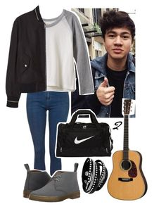 """""""Calum: Mum's House"""" by ragexhana ❤ liked on Polyvore featuring Topshop, RVCA, MANGO, Dr. Martens, NIKE, women's clothing, women, female, woman and misses"""