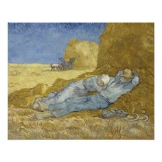 Siesta after Millet by Vincent Van Gogh Perfect Poster
