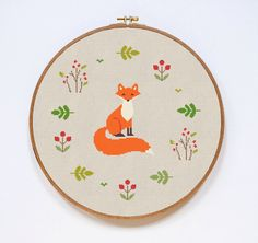 Fox Cross Stitch Pattern, Modern Cute Animal Counted Easy Stitch Chart, PDF Format, Instant Download by Stitchering on Etsy https://www.etsy.com/listing/285414467/fox-cross-stitch-pattern-modern-cute