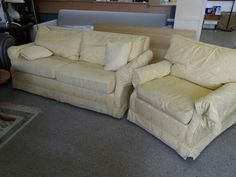 2/3 Seater Sofa With Arm Chair, Local Delivery Service Available, Measures H75cm, W180cm, D94cm -  £55 (PC702) 5000 sq ft showroom OPEN Mon - Sat 10am - 7pm & Sunday's 12 - 4pm