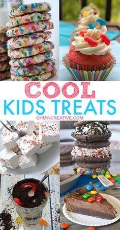 Make a few of these super Cool Kids Treats! Colorful ideas for snacks, after school or parties | OHMY-CREATIVE.COM