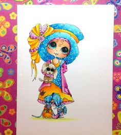 dot work on Besties by Diny Sprakel... info on Molotow markers