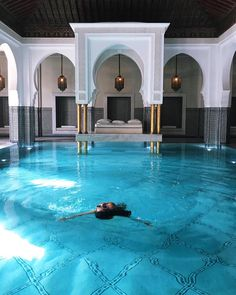 Travel and relax with this beautiful places. Marrakesh, Wanderlust Travel, Piscina Interior, Beach Cottage Style, Grand Homes, Destination Voyage, Destinations, Dream Home Design, Vacation Places