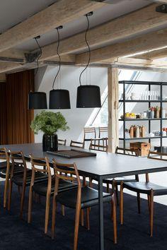 Vipp Loft by Studio David Thulstrup for the Danish Design Company Vipp Loft Interior, Interior Design, Modern Loft Apartment, Loft Studio, Open Space Living, Design Your Dream House, Dining Room Inspiration, Decoration Design, Loft Spaces