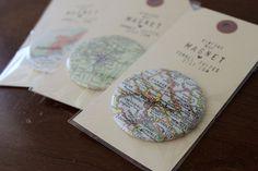 pommes frites: vintage map magnets | Flickr - Photo Sharing!