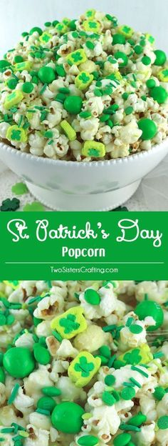 Patrick's Day Popcorn is a yummy sweet and salty popcorn treat that is so easy to make. Surprise your family with this fun St. Patrick's Day dessert. St Patrick Day Snacks, St Patricks Day Food, Saint Patricks, St Patricks Day Snacks For School, Oreo Dessert, Easy Party Food, Party Snacks, Party Appetizers, Meat Appetizers