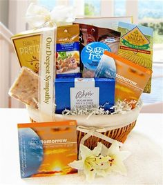Bereavement gift ideas for men a loving way to remember a loved send our sugar free sympathy gift basket to someone who is grieving and also has special negle Gallery