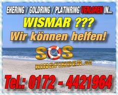 Ehering / Goldring / Platinring und sonstiger Schmuck in Wismar - Ostsee verloren? Wir helfen mit unseren Metalldetektoren Telefon: 0172-4421964