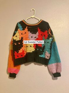 Crochet Jumper, Cute Crochet, Crochet Crafts, Crochet Hooks, Knit Crochet, Crochet Sweaters, Crochet Ideas, Vintage Crochet Patterns, Afghan Crochet Patterns