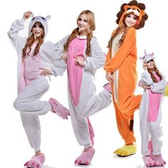 Free Shipping On Sale Adult Pyjamas All In One Sleep Suit Romper Animal onesies Unisex Pajamas for adults woman S M L XL