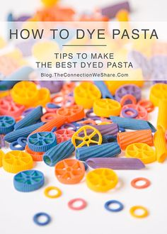 how to dye pasta for kids crafts