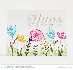 Sketched Blooms 2 Stamp Set, Twice the Hugs Die-namics - Melania Deasy  #mftstamps