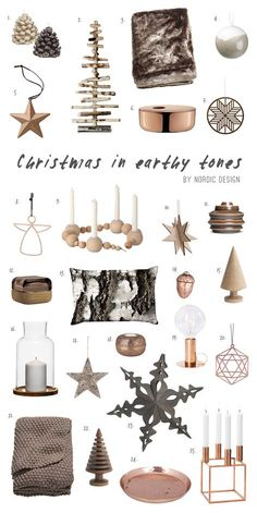 Christmas in Earthy Tones with Copper Accents - NordicDesign More