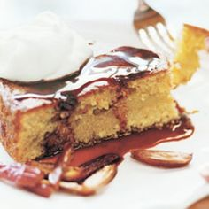 Olive Oil Couscous Cake with Cr�me Fra�che and Date Syrup