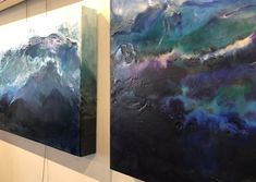 Commissioned Art for Design of Artist Julia Ross - Ocean Artist - ethereal elements of artwork contribute to interior design and decor, working with commercial and residential designers to build on custom designs through commissioned works of art - defines a new perspective of landscape, water, sea life and the ever changing climate.  Layers of transparent color and metallic elements combine to relay a calm strength inherent in our oceans.