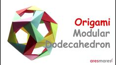 Origami Dodecahedron (easy - modular) Easy but impressive origami dodecahedron. Origami And Kirigami, Origami Paper, Oragami, Origami Geometric Shapes, Paper Folding Techniques, Art Worksheets, Modular Origami, Paper Crafts, Diy Crafts