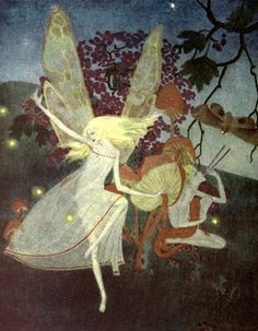Illustration for Walter de la mare's book of fairy poems. Down-ADown-Derry. 1922