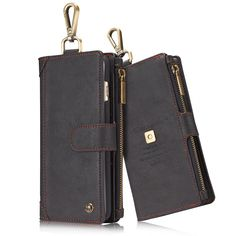 2 in 1 Luxury Wallet Leather Case For Apple iPhone 6 6s 7 Case Flip Phone Bag Cases Leather Coque For iPhone 7 6 Plus Cover