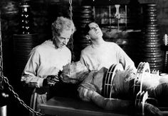 Ernest Thesiger and Colin Clive in The Bride of Frankenstein 1935