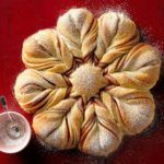 Christmas Star Twisted Bread Swirled with jam, this sweet beauty may look tricky, but it's not. The best part is opening the oven to find this freshly baked star bread in all its glory. Holiday Bread, Christmas Bread, Christmas Star, Christmas Desserts, Christmas Baking, Merry Christmas, Dessert Recipes, Croissants, Gastronomia