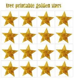 FREE Silvester Party printables: Sterne: