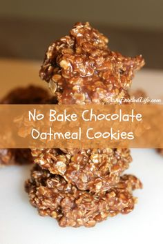 No Bake Chocolate Oatmeal Cookies - Serve up a batch of No Bake Chocolate Oatmeal Cookies the next time you crave something sweet on a hot summer day! Quick, easy to make, and very kid friendly, these No Bake Chocolate Oatmeal Cookies are absolutely delicious.   http://www.annsentitledlife.com/recipes/no-bake-chocolate-oatmeal-cookies/
