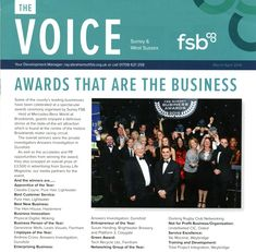 Front Page of #FSB Magazine First Voice featuring our winning the FSB Business awards – congratulations to all the winners: http://www.answers.uk.com/newsfull/firstvoice16.html  T: 01483 200999 http://www.answers.uk.com