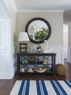 Beach house foyer + vintage finds Kate Jackson Design