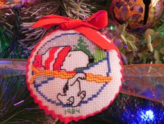 Snoopy counted cross stitch