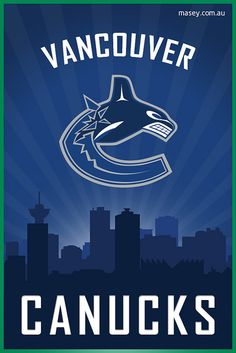 ♡*゚Going To See The Canucks vs Detroit Game Tonight! Going For Dinner & Drinks First.Love Going Downtown Vancouver & Hanging Out! Hockey Games, Ice Hockey, Nhl, 4 Wallpaper, Cityscape Wallpaper, Canada Hockey, Sports Logo, Vintage Posters, Team Logo