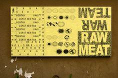 """Darius Ou, Ficciones Typografika 533-535 (24""""x36""""). Installed on June 24, 2014. More: http://ficciones-typografika.tumblr.com/"""