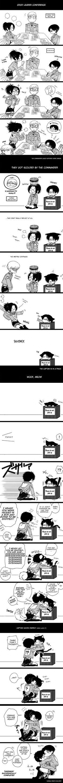 Attack on Titan ~~ Insanely cute comic! :: http://www.pixiv.net/member_illust.php?mode=mediumillust_id=43845344 translation: http://heichoulicious.tumblr.com/