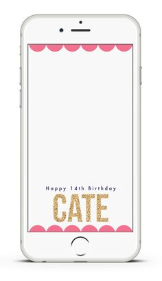 HAPPY BIRTHDAY Snapchat Geo-Filter// Customized // by FILTERSbyMK