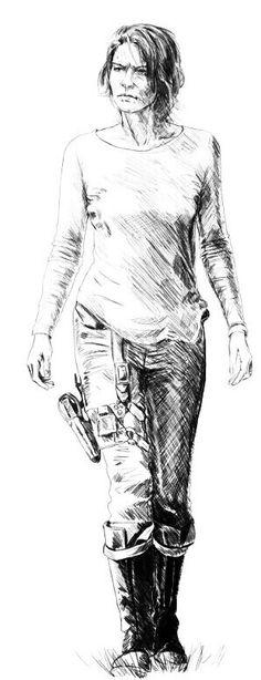 MAGGIE GREENE Walking Dead Girl, Daryl Dixon Walking Dead, Walking Dead Series, Lauren Cohen, Maggie Greene, Tom Payne, Lettering Tutorial, Fanart, Sketches