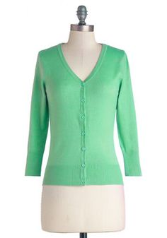 Charter School Cardigan in Jade. Show your style smarts in this versatile cardigan! #green #modcloth