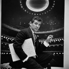 Composer Leonard Bernstein, holding musical score with lighted auditorium behind him. (Photo by Gordon Parks/The LIFE Picture Collection/Getty Images. Music Wall Art, Music Artwork, Street Photography, Fashion Photography, Only In America, Leonard Bernstein, Gordon Parks, Life Pictures, Photo Black