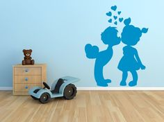 Sticker Mural Enfants Amoureux https://zonestickers.fr/-sticker-mural-enfants-amoureux-3066  #ZoneStickers #Autcollant #Décoration