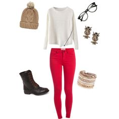 A fashion look from December 2014 featuring Pieces leggings, Black Poppy boots and ALDO bracelets. Browse and shop related looks.