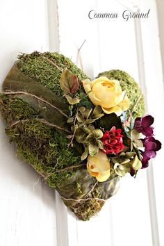 Common Ground: Moss Covered Heart: How-To