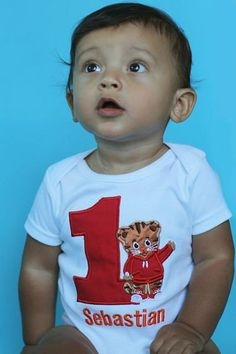 Daniel The Tiger Birthday Number Onesie or Shirt on Etsy, $29.00