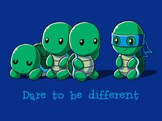 Dare to be Different | TeeTurtle | TeeTurtle