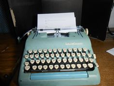 Smith Corona green typewriter Super Silent model