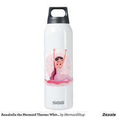 Annabella the Mermaid Thermo White Big 16 Oz Insulated SIGG Thermos Water Bottle