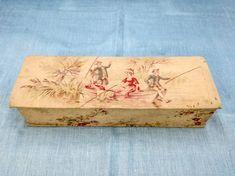 Antique French fabric glove box boudoir glove box antique | Etsy