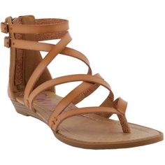 Blowfish Women's Bungalow Sandals (389842401) ($39) ❤ liked on Polyvore featuring shoes, sandals, desert sand, gladiator sandals, ankle tie gladiator sandals, boho sandals, blowfish shoes and bohemian sandals
