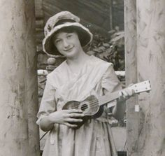 Sweet Young Girl With Ukelele House Of David, Benton Harbor, Photo Postcards, Old Pictures, Sweet, Etsy, Candy, Antique Photos, Old Photos