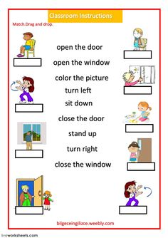 Classroom Instructions Language: English Grade/level: Beginner School subject: English as a Second Language (ESL) Main content: Classroom language Other contents: English Activities For Kids, Learning English For Kids, English Worksheets For Kids, English Lessons For Kids, English Language Learning, English Teaching Materials, Teaching English, Learn English, English Classroom