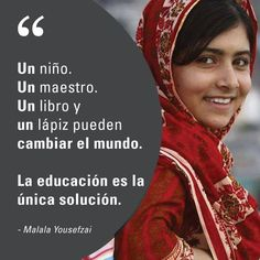 We love Malala — what a great example of courage and the power of education. Spanish Classroom, Teaching Spanish, Spanish Memes, Spanish Quotes, Spanish 1, Malala Yousafzai Quotes, Classroom Language, Love Phrases, Teacher Quotes