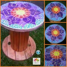 mesas con mosaicos - Buscar con Google                                                                                                                                                     Más