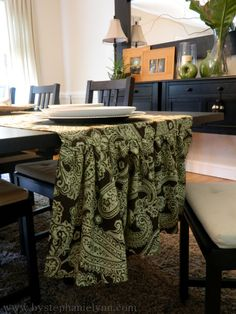 love this table runner...perfect for the formal dining room